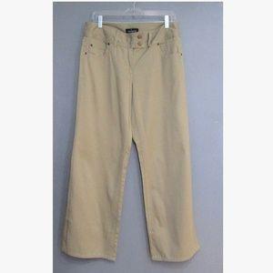 NEW Moda International Tan Wide Leg Pants Size 10
